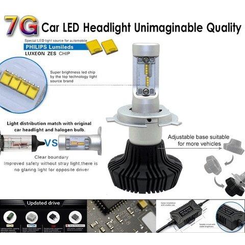 Набор светодиодного головного света UP-7HL-PSX26W-4000Lm (PSX26, 4000 лм, холодный белый) Превью 2