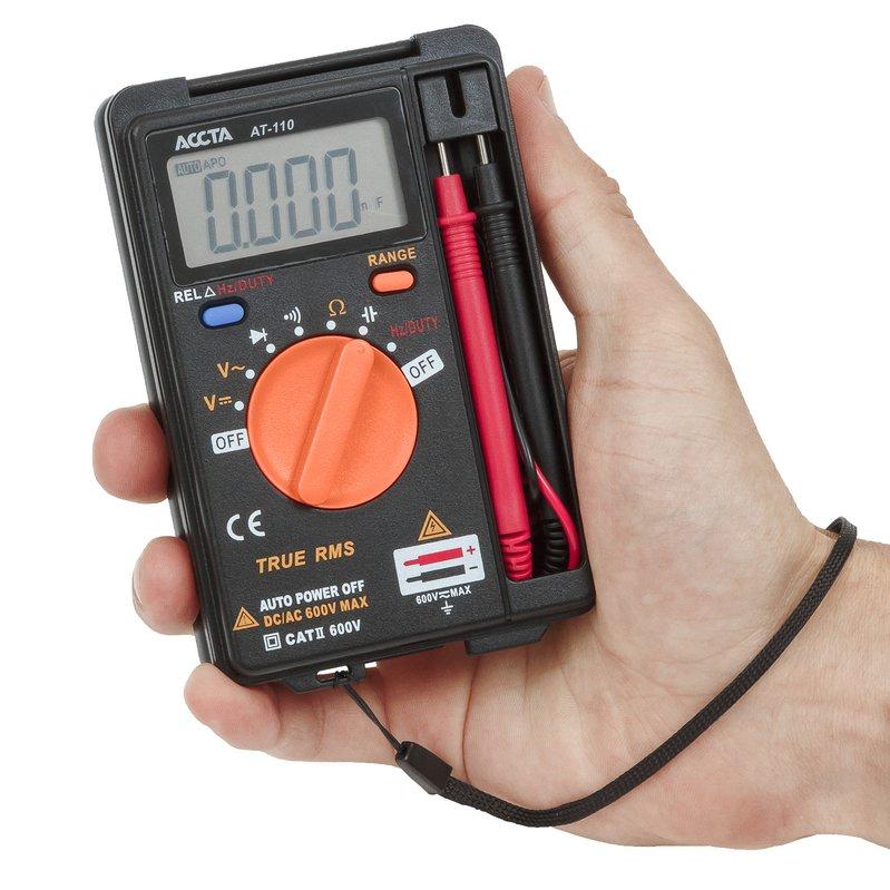 Кишеньковий цифровий мультиметр Accta AT-110 Зображення 7