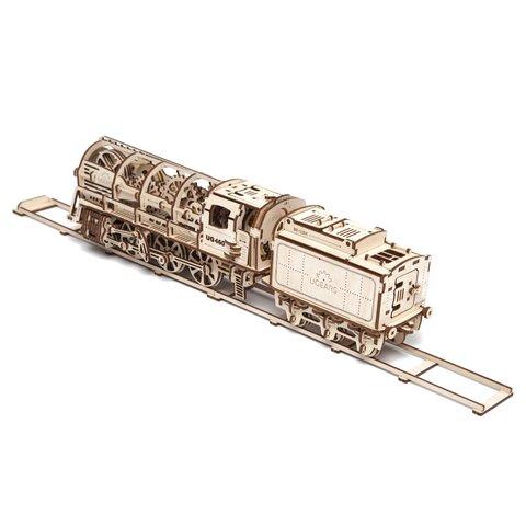 Механічний 3D-пазл UGEARS Локомотив з тендером - /*Photo|product*/