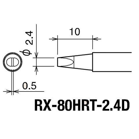 Soldering Iron Tip Goot RX-80HRT2.4D Preview 1