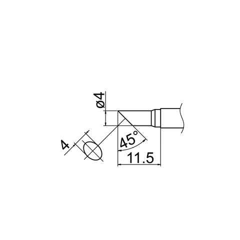 Soldering Tip HAKKO T12-C4 Preview 4